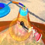 Toboggan aquatique en 3D