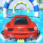 Acrobaties automobiles dans l'eau