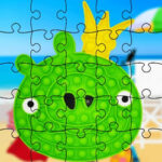 Puzzles Pop-It avec Angry Birds
