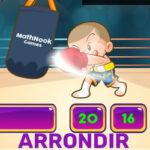 Arrondi en ligne avec la boxe