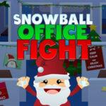 Bataille de boules de neige au bureau