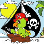 Colorier un Bateau Pirate