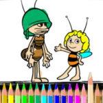 Coloriage d'abeilles