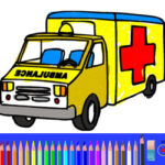 Coloriage de l'ambulance