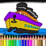 Coloriage de Bateaux en ligne