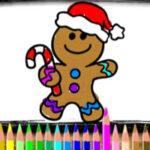 Coloriage des biscuits de Noël
