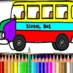 Coloriage de Bus Scolaire en ligne