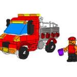 Coloriage de Camions Lego
