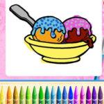Coloriage de la crème glacée