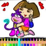 Peinture de Dora et Boots