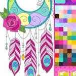 Coloriage des Capteurs de Rêves Mandalas