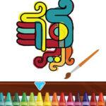 Coloriage des Symboles Aztèques