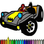 Coloriage des Voitures des Super-héros