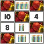 Compter et apparier les chiffres à Noël