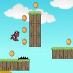 Courir et collecter des monnaies avec le dragon