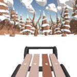 Course de traîneau à neige