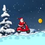 Course de motos du Père Noël