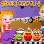 Cupcakes d'Halloween avec Baby Hazel