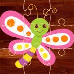 Puzzles de dessins de papillons pour les enfants