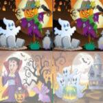 Différences dans les dessins d'Halloween
