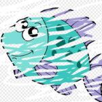 Gratter et effacer les animaux de l'océan