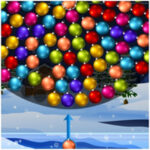 Boules de Noël en rotation