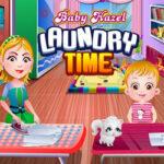 Bébé Hazel lave ses Vêtements