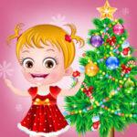 Bébé Hazel à Noël