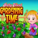 Bébé Hazel s'occupe du jardin