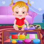 Bébé Hazel joue avec les formes
