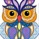 Coloriage des Hiboux Mandalas