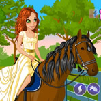 Habillage du cheval et du cavalier