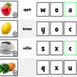Les initiales de la nourriture en anglais