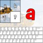 Consonnes et voyelles du clavier