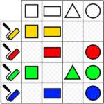 Matrice logique: Forme et couleur