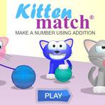 Kitten Match: Faites un nombre en utilisant l'addition