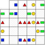 Matrice de Formes Géométriques colorées