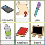 Flashcards: Matériel de Classe en Anglais