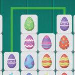 Reliez les œufs de Pâques correspondants