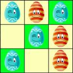 Tic-Tac-Toe avec des œufs de Pâques