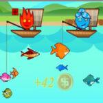 Pêche à 2 joueurs: Garçon-Feu et Fille-eau