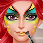 Peinture du visage du Carnaval