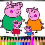 Peppa et George Coloriage