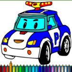 Coloriage des voitures de police