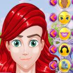 Mélange de visages de princesse