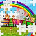 Puzzle des Animaux en Train