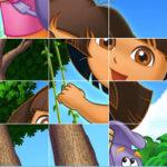 Puzzle Coulissant avec Dora