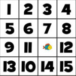 Puzzle Coulissant Numéro