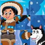 Tourner les pièces Puzzle d'hiver