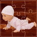 Jeu de puzzle des bébés poupées